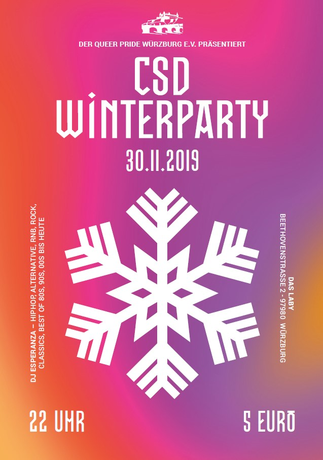 CSD Winterparty Flyer